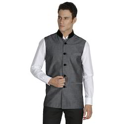 Khadi Sleeveless Mens Designer Nehru Jacket