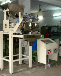 Semi Automatic Two Linear Heads Weigher Filler