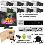 8 Camera Security Systems (Box Cameras)