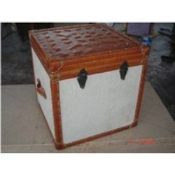 Wooden Leather Trunks