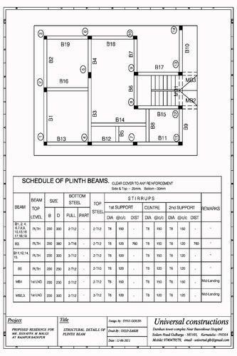R C C Steel Design Plinth Beam Design Service Service