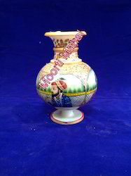 Painted Marble Flower Vase