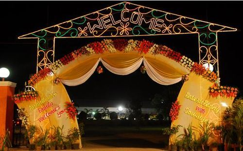 Entrance Gate Flower Decoration Service In Hyderabad