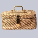 Rectangular Lidded Wicker Box