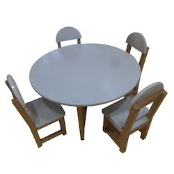 Wooden Circular Kids Table