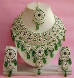 Silver Plated Indian Wedding Bridal Jewellery Set NP-281 3cb6f01b936d