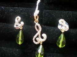Stone Studded Brass Pendant