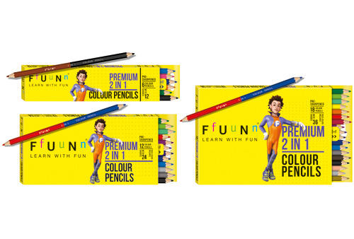 colour pencils 2 in 1 - Fun Pictures To Colour In 2