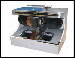 Shoe Polishing Machine with Sole Cleaner