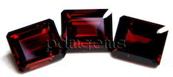 Garnet Faceted Octagon Gemstone