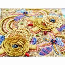 3D Flower Embroidery Design Work