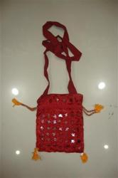 Red Canvas Cotton Traditional Mobile Cover