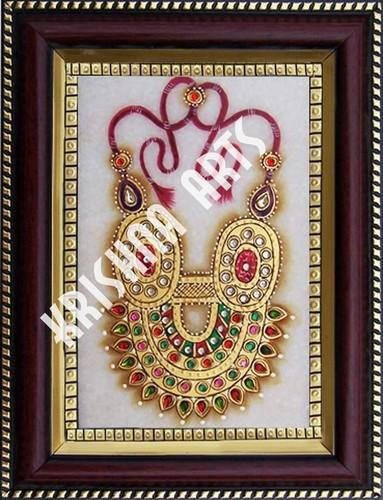 marble jewellery tile painting with