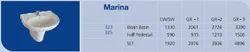 Marina Half Pedestal Wash Basins