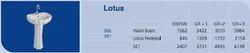 Lotus Pedestal Wash Basins