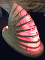 Whales Face Wooden Table Light