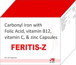 Carbonyl Iron Folic acid vitamin b12 zinc capsule