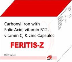 Carbonyl Iron Folic acid vitamin b12 zinc capsule