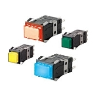 Lighted Pushbutton Switch (Square) Ultra Bright LED Type A3S