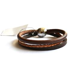 Leather Fashionable Bracelet