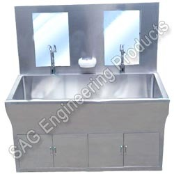 Double Hospital Scrub Sink