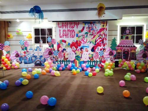Candy Land Themed Birthday Decoration In Karelibagh Vadodara Ra