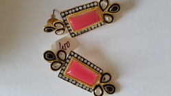 Royal Pink Gems Earrings