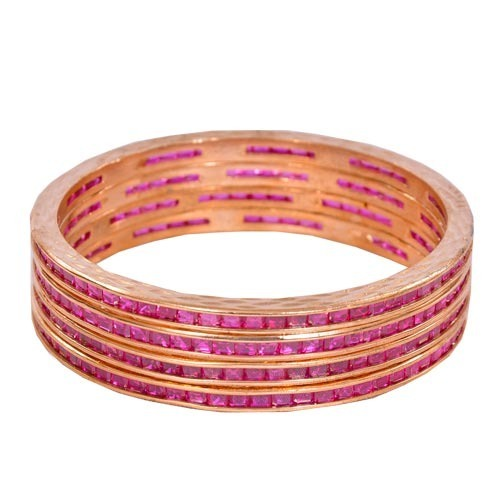 Ruby Studded Bangles