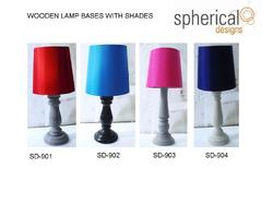 Wooden Lamp Bases with Shades