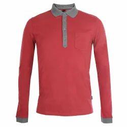 Men Plain Casual Collar T Shirts