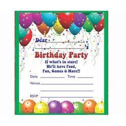 Birthday Invitation Card, Invitation Card | Kandivali East, Mumbai ...