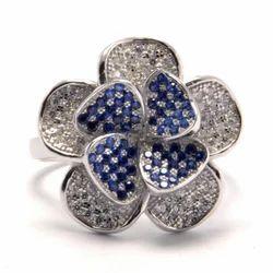 Silver Micro Stone Ring