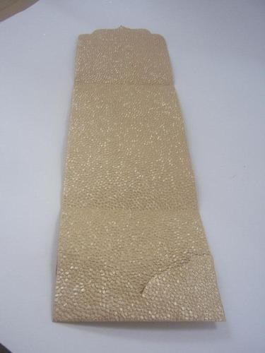 pebble handmade paper embossed pocket fold invites for weddi ravi