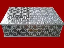 Handmade Glass Work Wooden Box