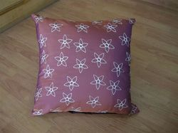 White Flower Design Cushion Cover