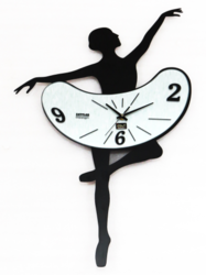 Lady Metal Wall Clock