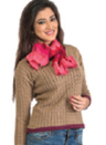 Brown And Red Design Top