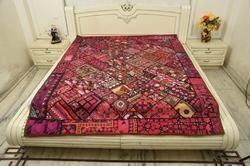 Paki Resham Antique Bed Cover
