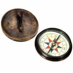 Brass Sun Dial Compass