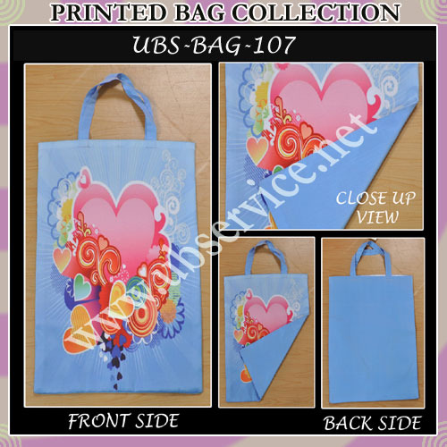 Printed Bag Collection - Pink & Blue