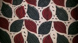 Leaves Block Printed Fabric