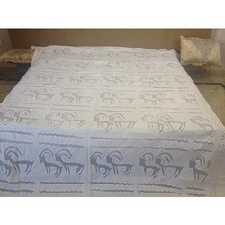 Handmade Applique Cutwork Bed Cover