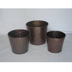 Galvanized Decorative Pots