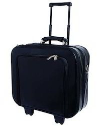Leather Black Trolley Bag, Dead Weight: 1.5-2 kg