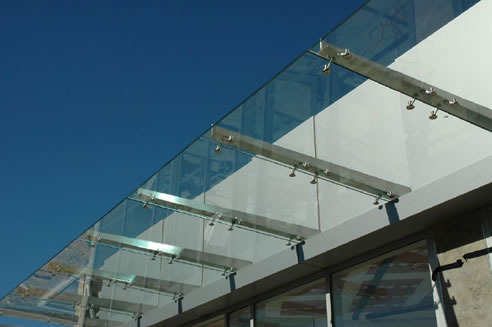 Cantilever Glass Canopy at Rs 1300/square feet | ग्लास ...