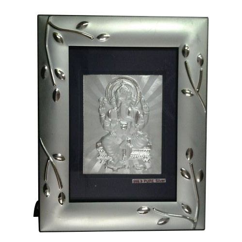 Lord Ganesha Silver Plated Frame - Freya Gift Collection, Mumbai ...