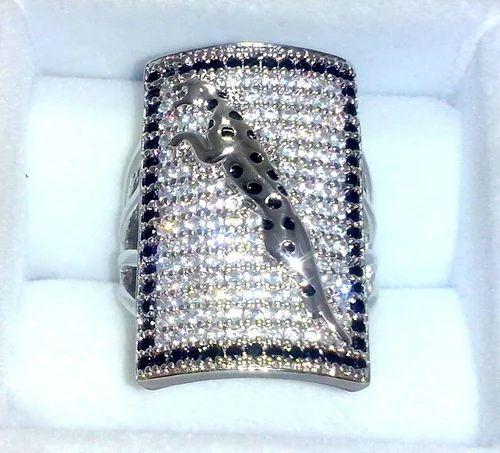 Jaguar Symbol 925 Sterling Silver Ring For Man Khalis Chandi Ke