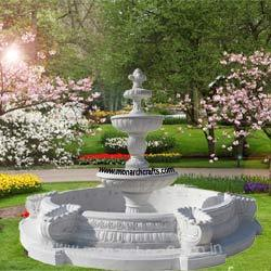white garden fountains - Garden Fountains