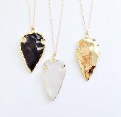 Gemstone Arrowhead Necklace