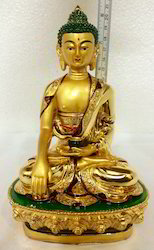 Imported Peaceful Golden Great Lord Buddha Statue